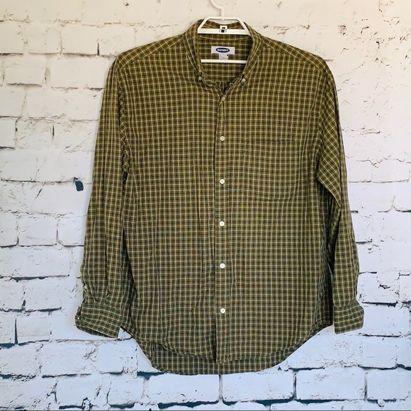 Old Navy Other - Men's Old Navy Green/White Plaid Shirt Size Large